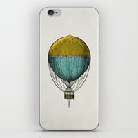 hot air balloon iPhone & iPod Skins featuring Vintage Hot Air Balloon by Juste Pixx Designs