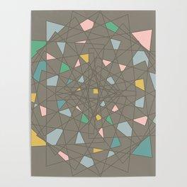 Minimalist color joy Poster
