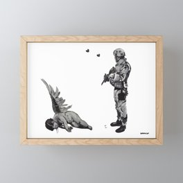 Banksy Soldier With Fallen Angel Artwork Reproduction for Prints Posters Tshirts Men Women Kids Framed Mini Art Print