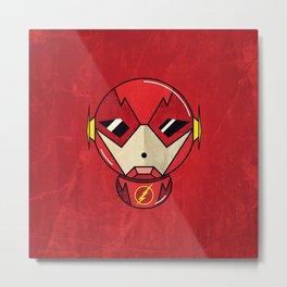The Flash, Minimal Art Print Metal Print