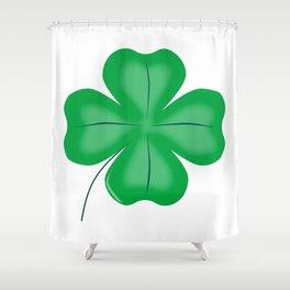 Lucky Four Leaf Shamrock Shower Curtain