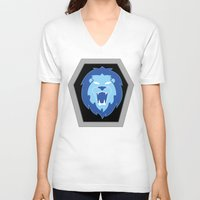 hologram V-neck T-shirts featuring Visionaries Lion by cardboardLAB