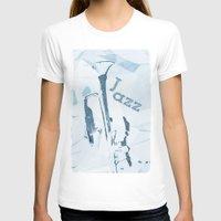 trumpet T-shirts featuring Jazz Trumpet by cinema4design