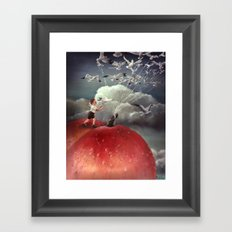 Climbing towards the heavens - From James and the Giant Peach - By Roland Dahl Framed Art Print