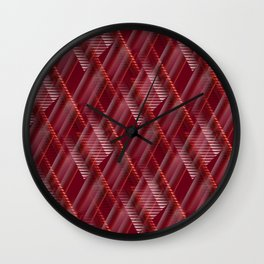Pattern red shutter Wall Clock