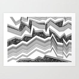 up-down Art Print