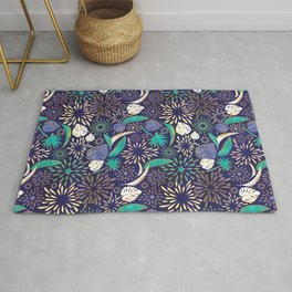 Tropical fireworks Rug