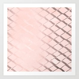 Rosegold Ribbon Art Print