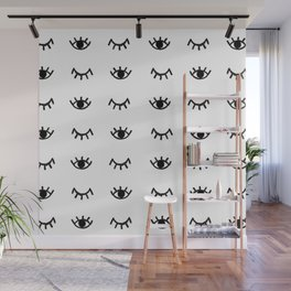 Wink Lashes Wall Mural