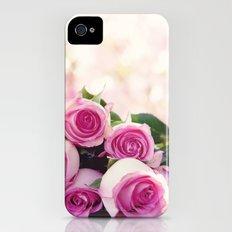 Pink Roses iPhone (4, 4s) Slim Case