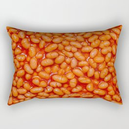 Baked Beans in Red Tomato Sauce Food Pattern  Rectangular Pillow