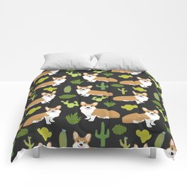 Welsh Corgi cactus southwest desert dog breed corgis gifts Comforters