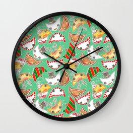 """Oro?"" Christmas MINT Wall Clock"