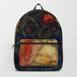 "Odilon Redon ""Flowers in a Blue Cup (Fleurs dans une coupe bleue)"" Backpack"