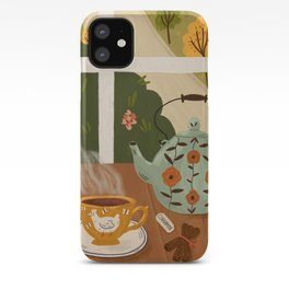 Tea Time by the Window iPhone Case