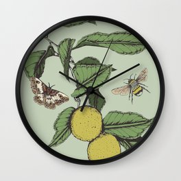 Lemons in Spring Wall Clock