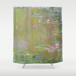 Water Lily Pond by Claude Monet Shower Curtain