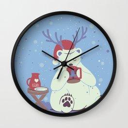 Polar Xmas Eggnog Wall Clock