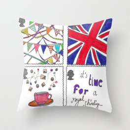 A Royal Shindig Throw Pillow