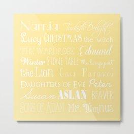 Narnia Celebration- shortbread Metal Print