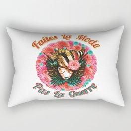Faites La Mode Pas La Guerre Rectangular Pillow