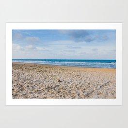 We love beach Art Print