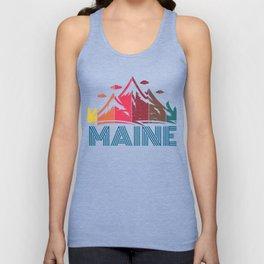 Retro Maine Mountain Design for Men Women and Kids Unisex Tank Top