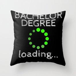 Bachelor Degree Loading Graduation 2020 Throw Pillow