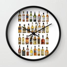 Whiskey bottles Wall Clock