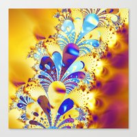 fireworks Canvas Prints featuring Fireworks by LLMD