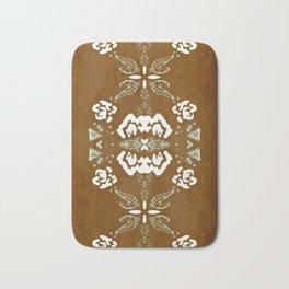 Brown and Cream Classical Textile Pattern Bath Mat