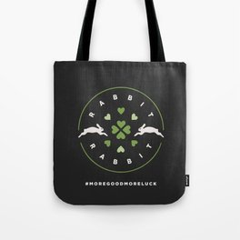 Rabbit Rabbit Love and Luck Tote Bag