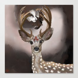 Deer's Balance  Canvas Print