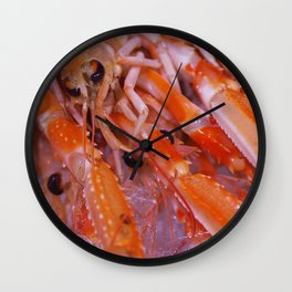 #Gourmet #Shrimps #close up Wall Clock