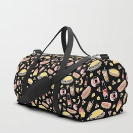Skyline Chili Pattern Black Duffle Bag