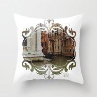 venice Throw Pillows featuring Venice by Caroline Fogaça