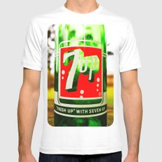 Classic 7 Up bottle White MEDIUM Mens Fitted Tee
