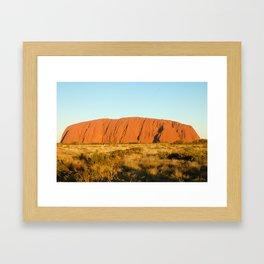 Uluru Sunset Framed Art Print
