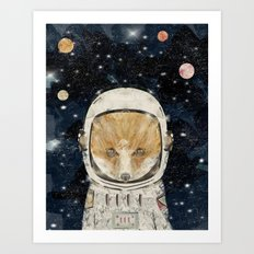 little space fox Art Print