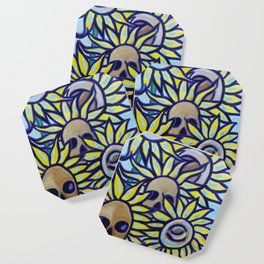S is for Sunflowers and Skulls Coaster