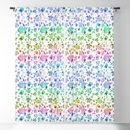 Ocean Life-Rainbow Palette Blackout Curtain