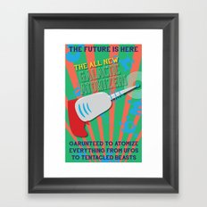 The Galactic Atomizer Framed Art Print