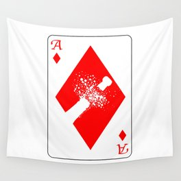 Ace of Diamonds Wall Tapestry