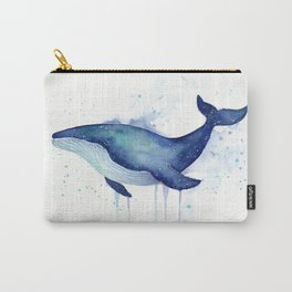 Whale Galaxy Watercolor Carry-All Pouch