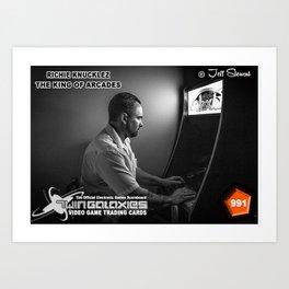 Richie Knucklez - King of Arcades card Art Print