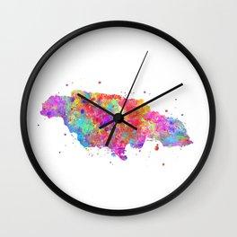 Jamaica Map Wall Clock