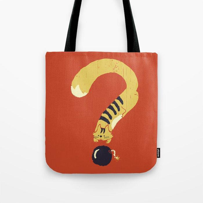 Question Mark (Curiosity Kills The Cat) Tote Bag