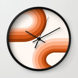 Sooky Sooky - retro minimal 70s style vibes rainbow minimalist 1970's color palette Wall Clock