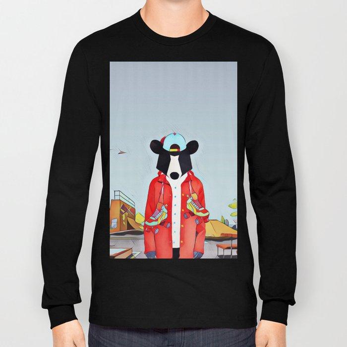 Bear in the skatepark Long Sleeve T-shirt