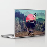 van Laptop & iPad Skins featuring Llama by Ali GULEC